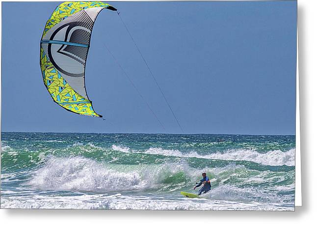 Ridin The Wind Greeting Card by Peter Tellone