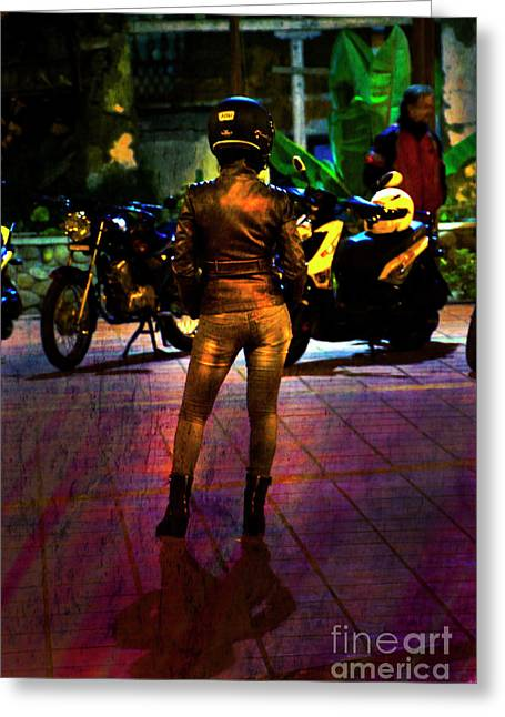 Greeting Card featuring the photograph Riding Companion II by Al Bourassa