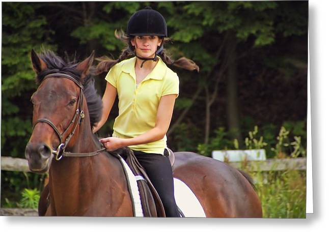 Riding Grace Greeting Card by JAMART Photography