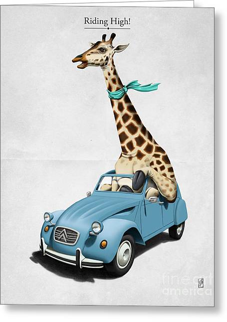 Riding High Greeting Card by Rob Snow