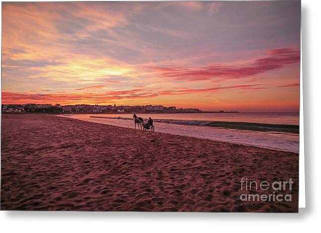 Riding Home Greeting Card by Roy McPeak