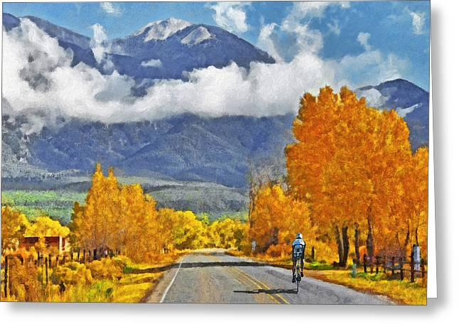 Riding In The High Desert Greeting Card