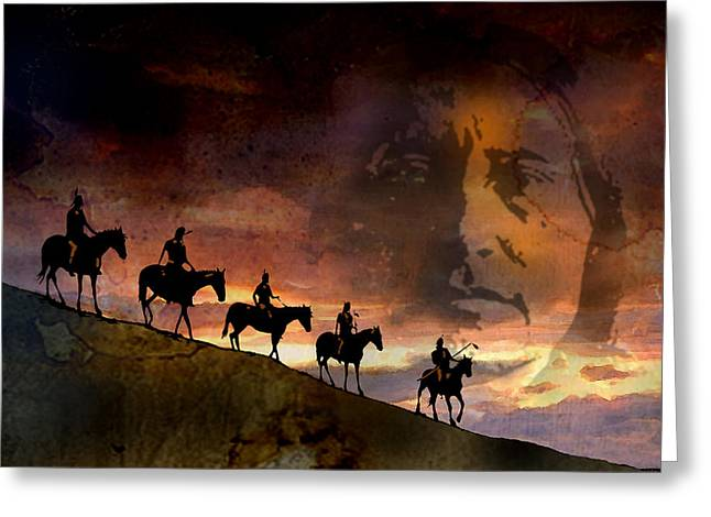 Riding Into Eternity Greeting Card