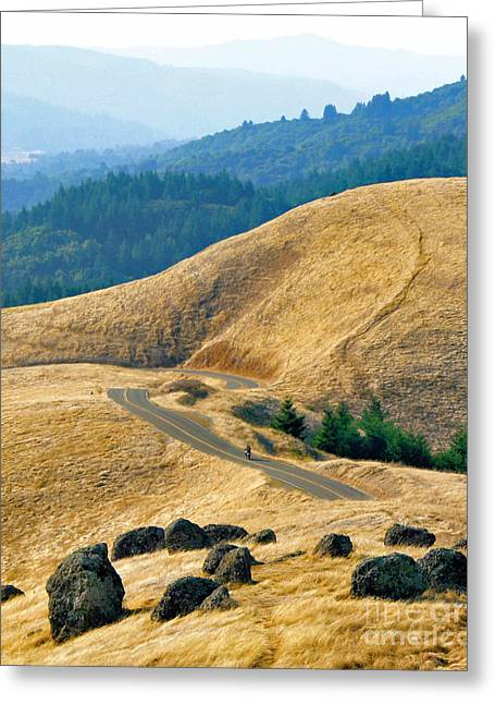 Riding The Mountain Greeting Card