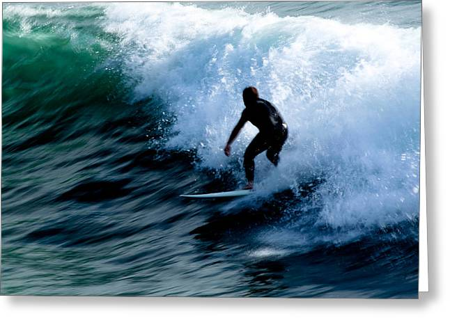Riding The Waves Greeting Card by Magdalena Green