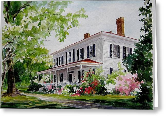 Ried-thurman-wannamaker Home Greeting Card by Gloria Turner