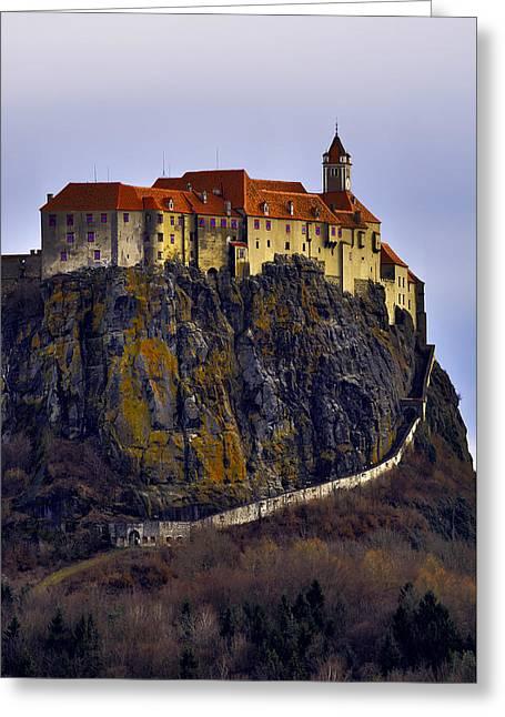 Riegersburg Castle Vertical Greeting Card