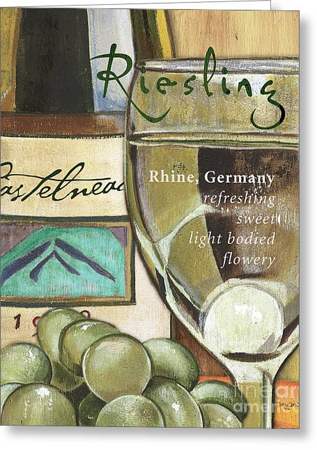 Riesling Wine Greeting Card by Debbie DeWitt