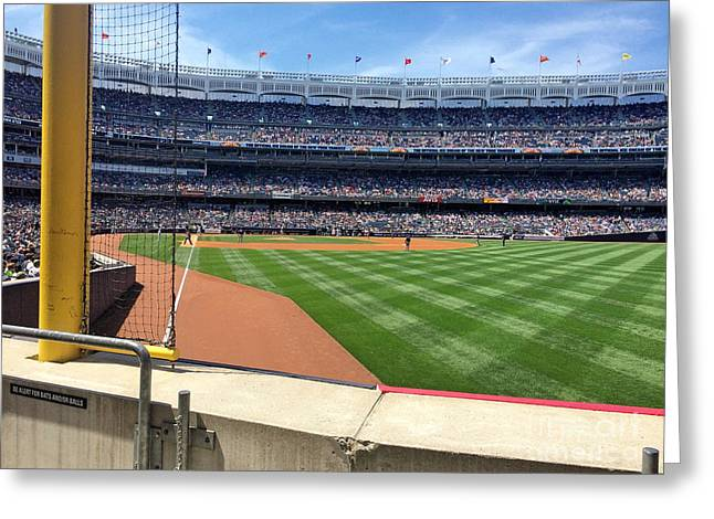 Yankee Stadium_right Field2 Greeting Card by All Island Promos