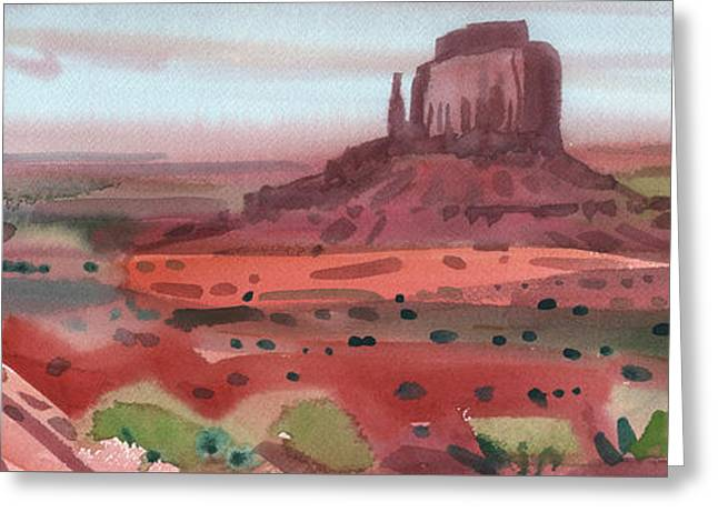 Right Mitten Panorama Greeting Card by Donald Maier