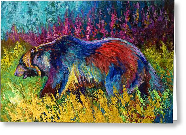 Right Of Way - Grizzly Bear Greeting Card by Marion Rose