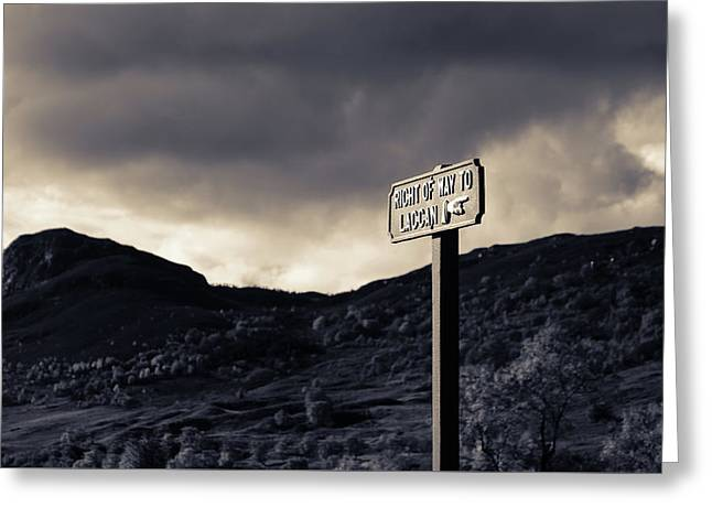 Right Of Way To Laggan Greeting Card