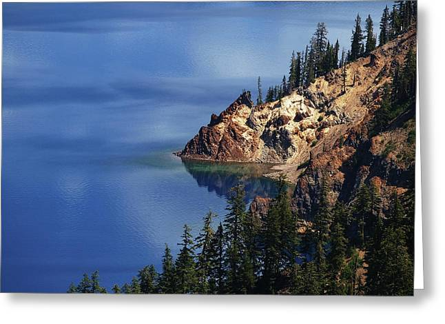Right Side Of Crater Lake Oregon Greeting Card