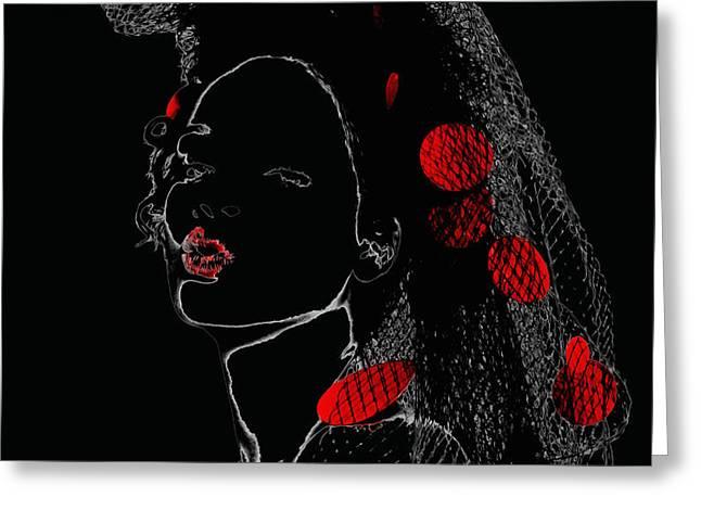 Rihanna 17a Greeting Card by Brian Reaves