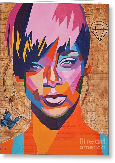 Rihanna  Greeting Card by Venus
