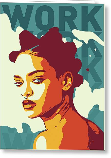 Rihanna Greeting Card by Greatom London