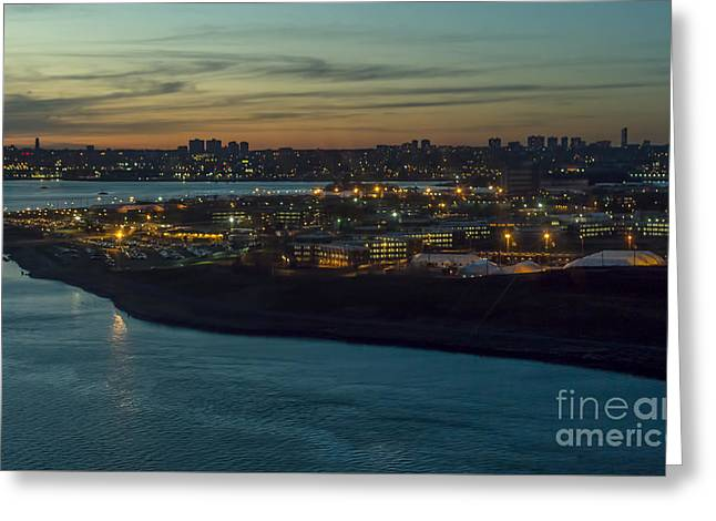 Rikers Island Jail - New York City Department Of Correction Greeting Card by David Oppenheimer