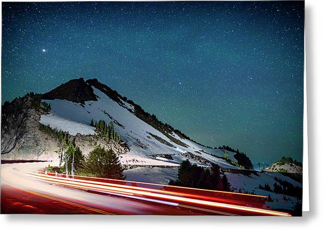 Rim Drive Greeting Card by Cat Connor