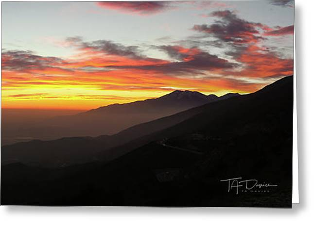 Rim Of The World Greeting Card
