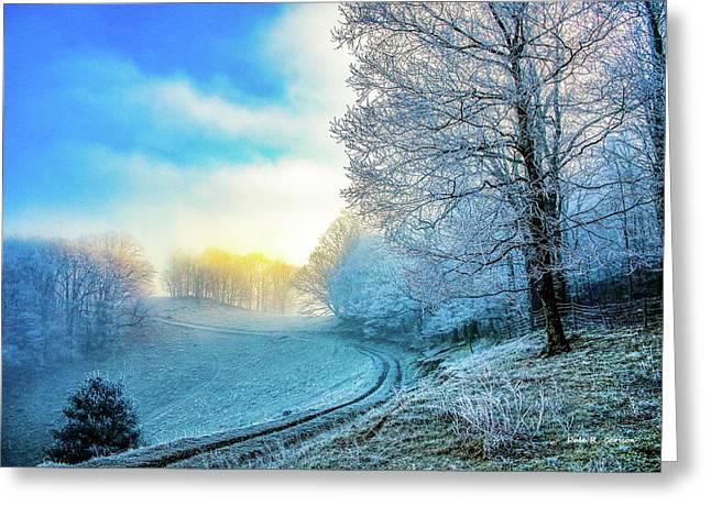 Rime Ice Sunrise Greeting Card