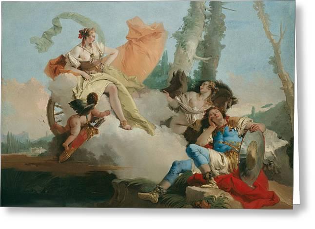 Rinaldo Enchanted By Armida Greeting Card by Giovanni Battista Tiepolo