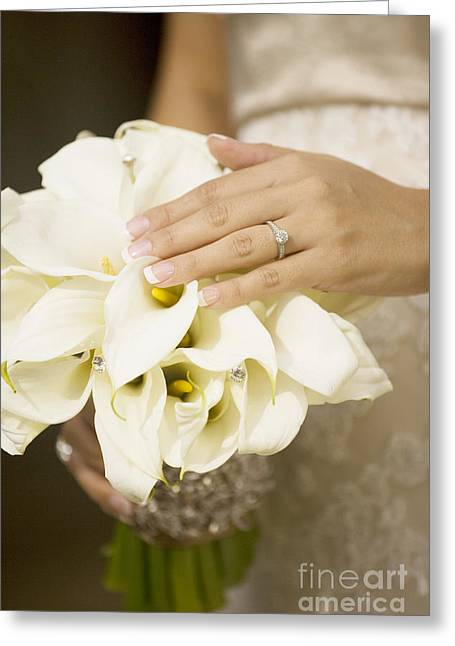 Ring And Bouquet Greeting Card