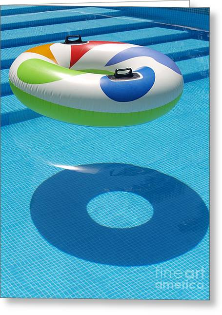 Ring In A Swimming Pool Greeting Card by Michael Canning