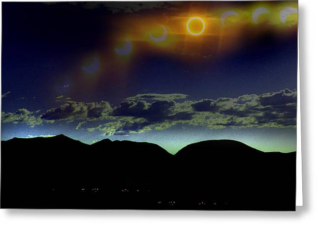 Ring Of Fire Greeting Card by Chad Rice