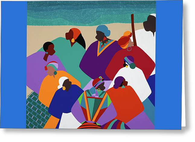 Ring Shout Gullah Islands Greeting Card by Synthia SAINT JAMES