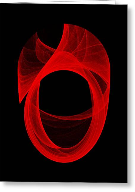 Ring Unraveling II Greeting Card by Robert Krawczyk
