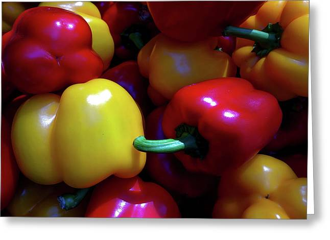 Ringing Colors - Bell Pepper Greeting Card by Ramabhadran Thirupattur