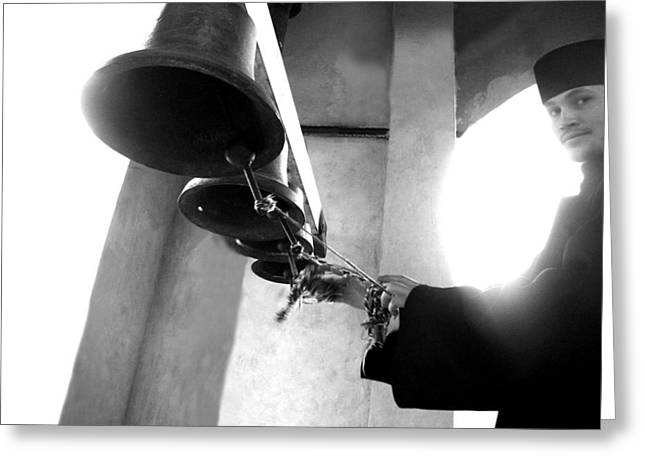 Ringing The Bells At The Monastery Greeting Card
