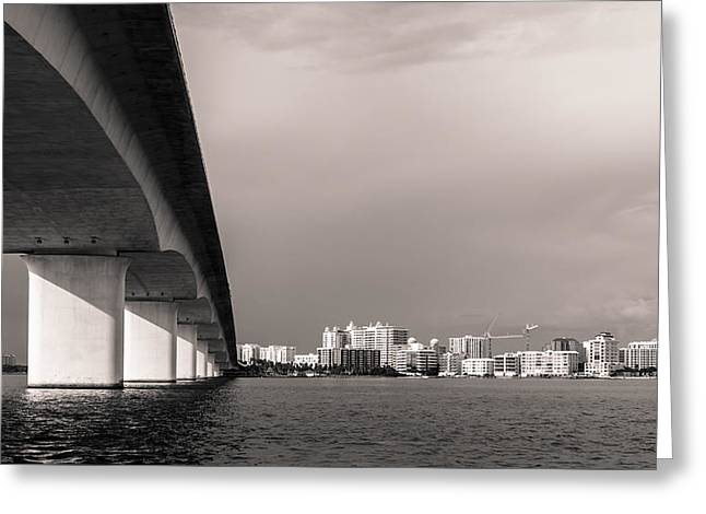 Ringling Bridge Greeting Card by Clay Townsend