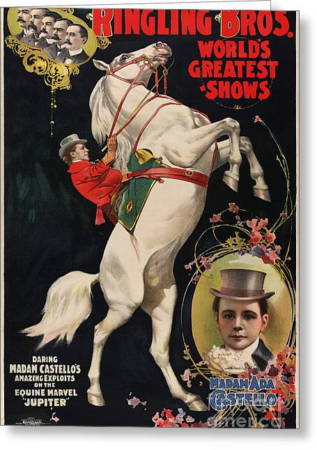 Ringling Brothers Greeting Card by Celestial Images