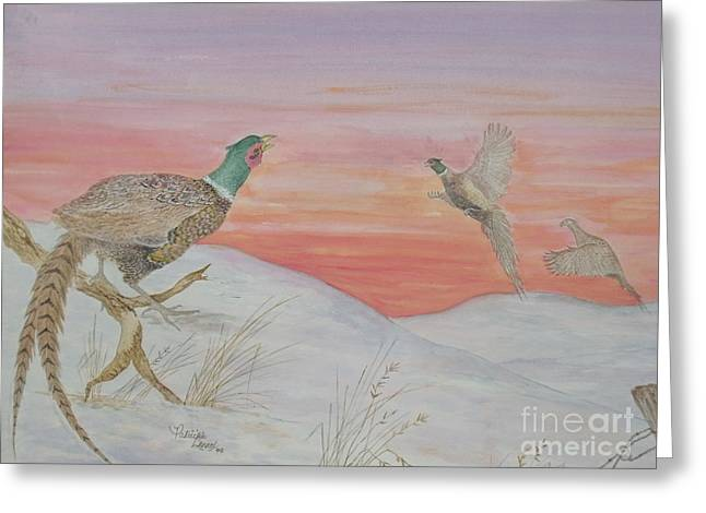 Ringnecks At Sunrise Greeting Card
