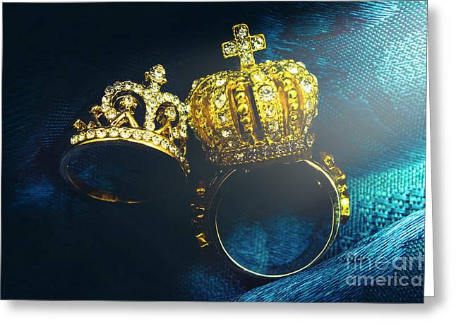 Rings Of Nobility Greeting Card