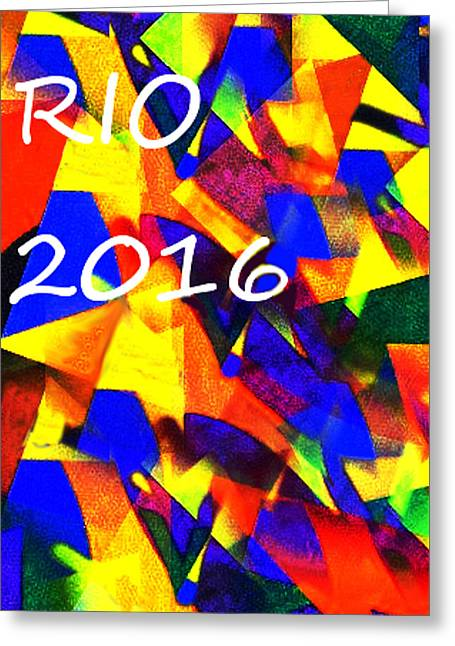 Rio 2016 Olympics Poster  Greeting Card by Enki Art