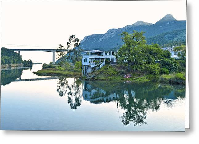 Rio Aguera Reflection  Greeting Card by Marek Stepan