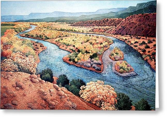 Rio Chama At Abiquiu Greeting Card by Donna Clair
