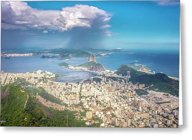 Rio De Janeiro Greeting Card by Andrew Matwijec