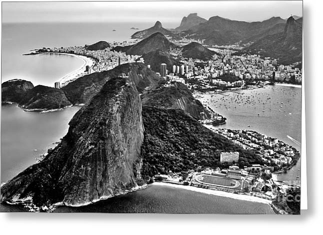Rio De Janeiro - Sugar Loaf, Corcovado And Baia De Guanabara Greeting Card