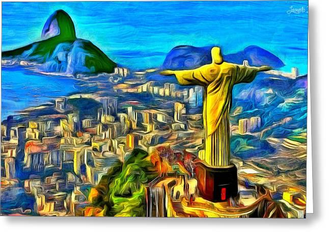 Rio De Janeiro - Da Greeting Card by Leonardo Digenio