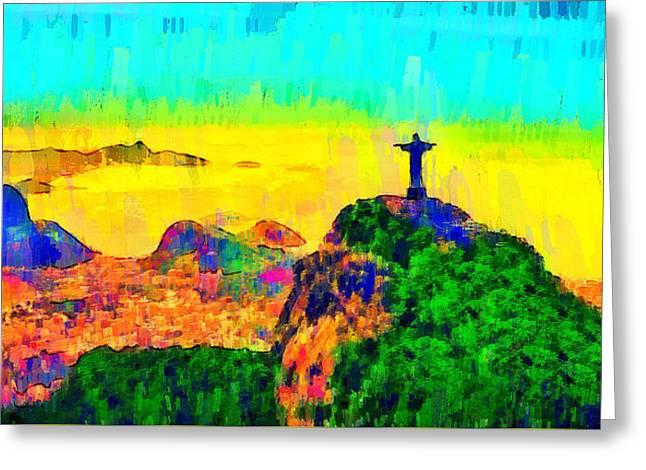 Rio De Janeiro Panoramic 4 - Da Greeting Card