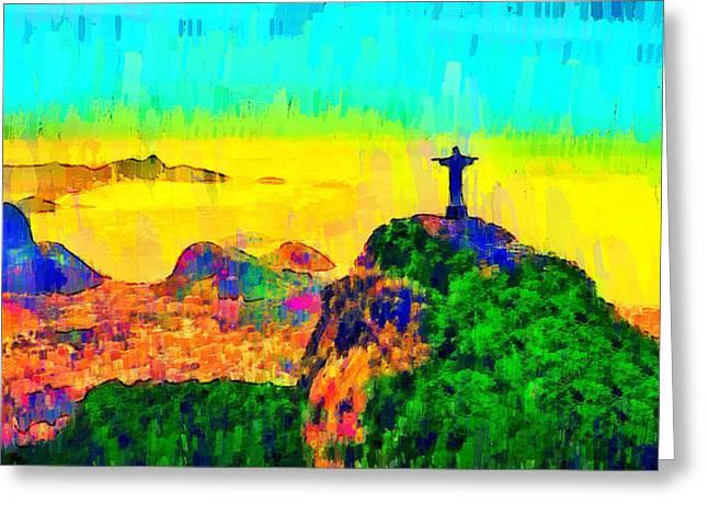 Rio De Janeiro Panoramic 4 - Pa Greeting Card by Leonardo Digenio