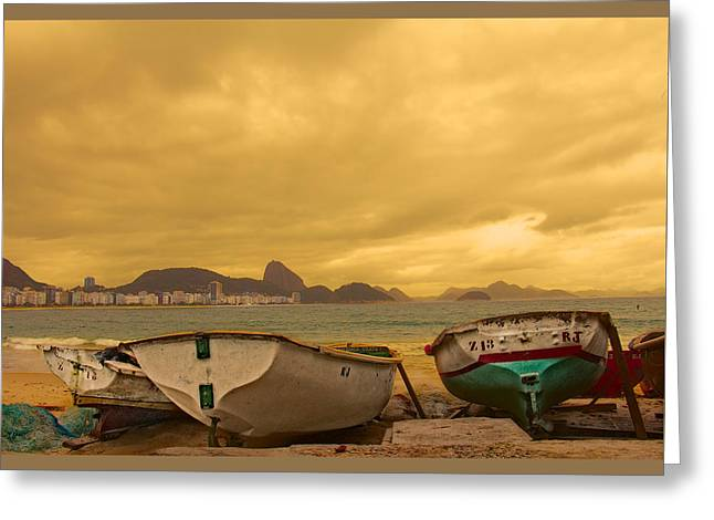 Greeting Card featuring the photograph Rio Fishing Boats by Kim Wilson