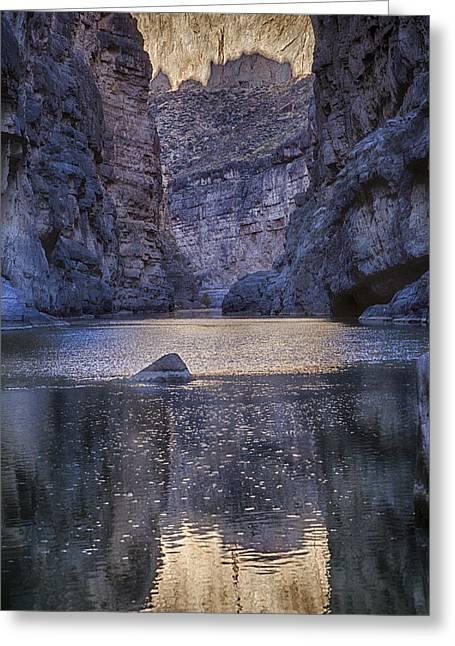 Rio Grand, Santa Elena Canyon Texas Greeting Card