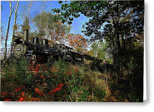Railroad Tie Greeting Cards - Rio Grande 464 Greeting Card by Scott Hovind