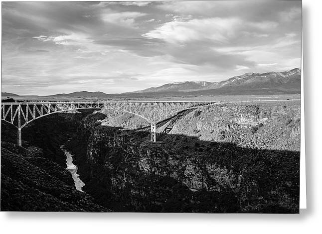 Greeting Card featuring the photograph Rio Grande Gorge Birdge by Marilyn Hunt