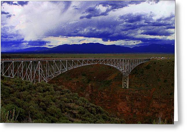 Rio Grande Gorge Bridge Greeting Card by Neil McCarver