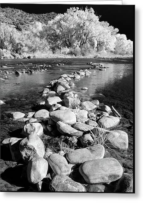 Greeting Card featuring the photograph Rio Grande-infrared by Britt Runyon